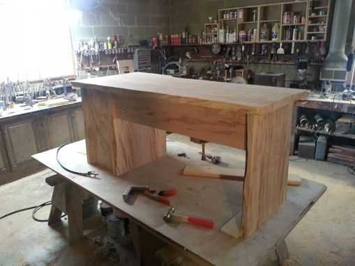 Custom Made Solid Wood Slab Desk