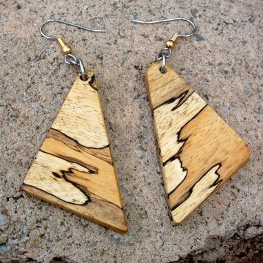 Custom Made Ultra Light Spalted Tamerand Earrings..L028