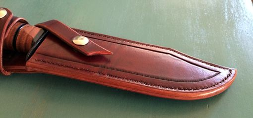 Custom Made Ka-Bar Leather Knife Sheath