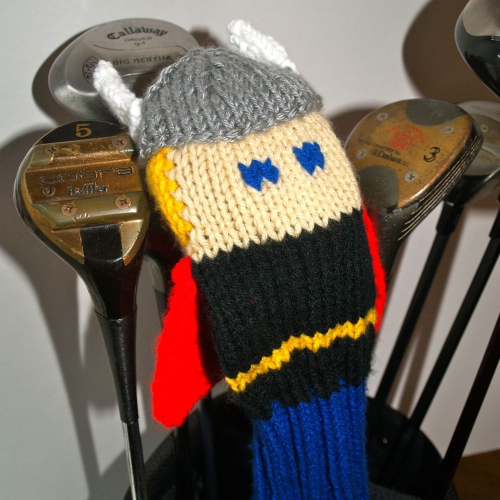 Custom Made Avengers Golf Club Covers by Tracey Knits | CustomMade.com
