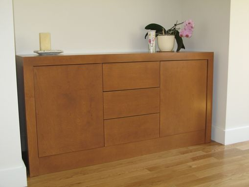 Custom Made Contemporary Built-Ins And Sideboard