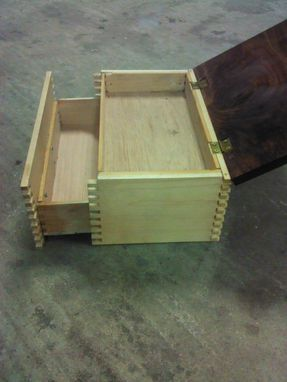 Custom Made Walnut And Maple Humidor With Secret Compartment