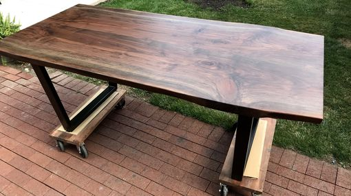 Custom Made Live Edge Walnut Table