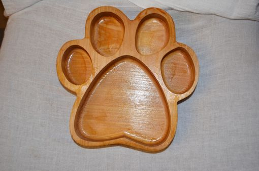 Custom Made Custom Sports Fan Snack Bowl-Paw Print