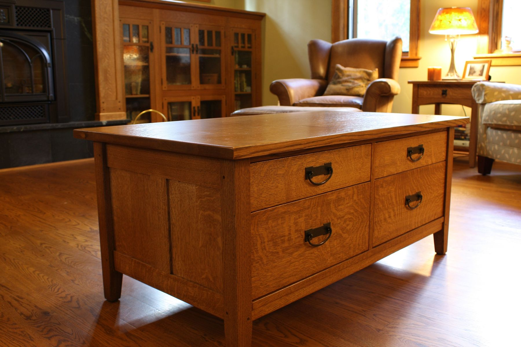 Custom Mission Style Coffee Table by Montana Cabinet & Canoe