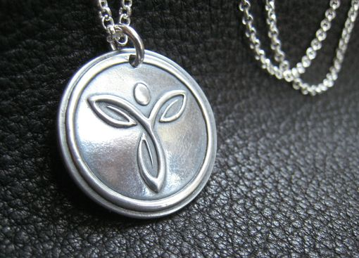 Custom Made Custom Logo Medallion Pendant In Sterling Silver