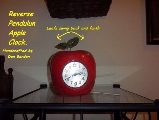 Custom Made Apple Shaped Clock