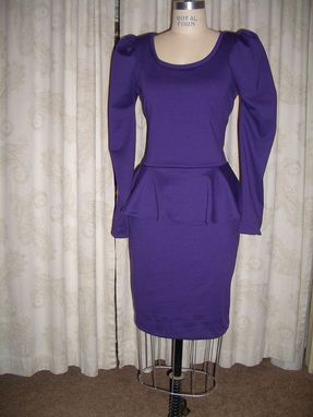 Custom Made Knit Peplum Dress