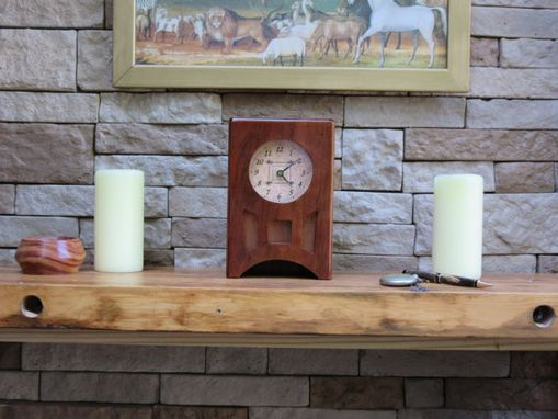 Custom Made Retro, Art Deco Style Mantle Clock, Solid Cherry (118)Jb