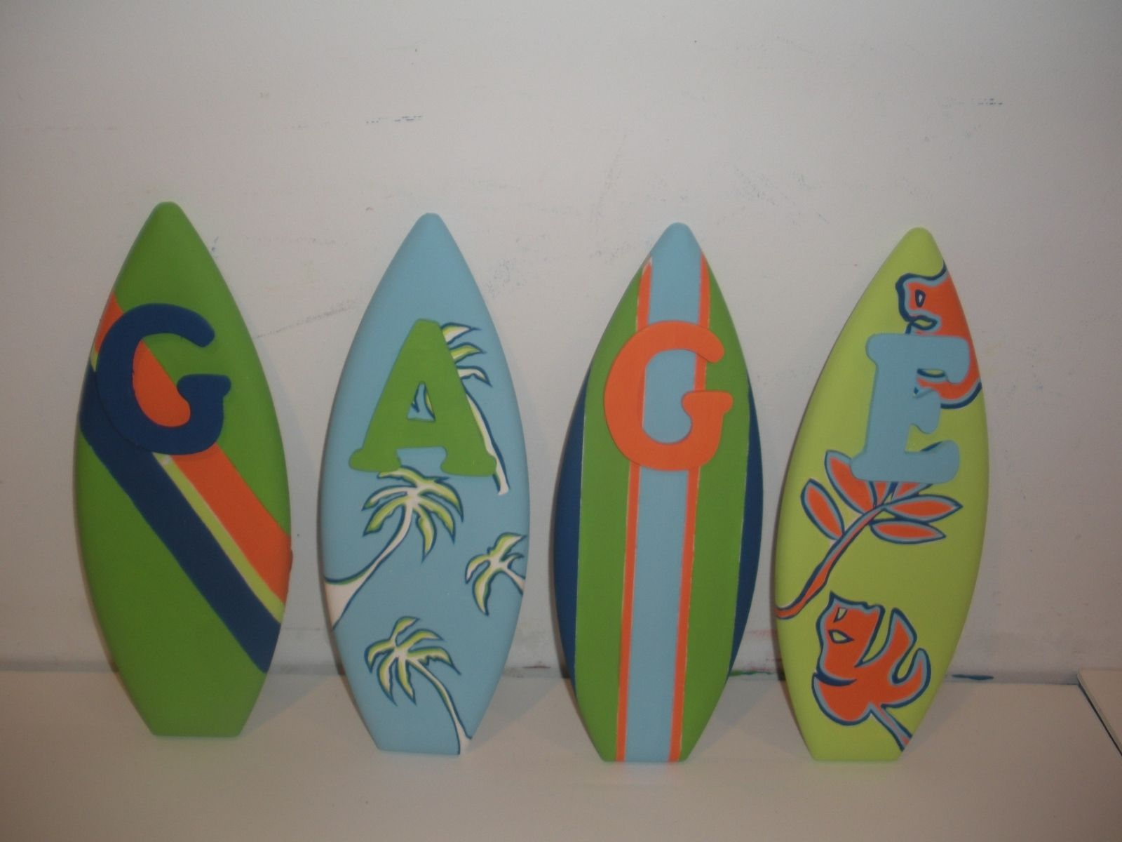 Handmade 1ft nursery wood surfboard letters by surfboardbeachart handmade 1ft nursery wood surfboard letters by surfboardbeachart custommade amipublicfo Image collections