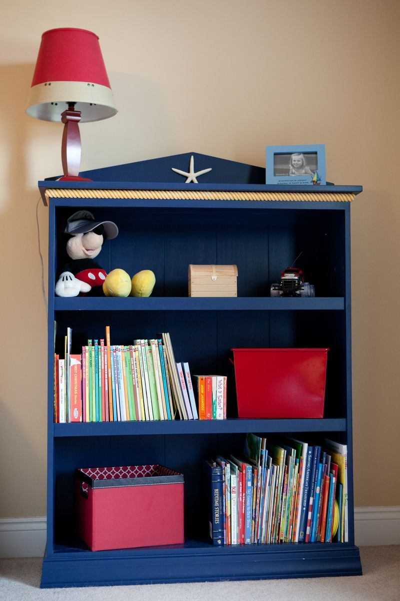 baby boy room themes ideas with bookcase | Custom Made Nautical Themed Bookshelf by Vintage Woodworks ...