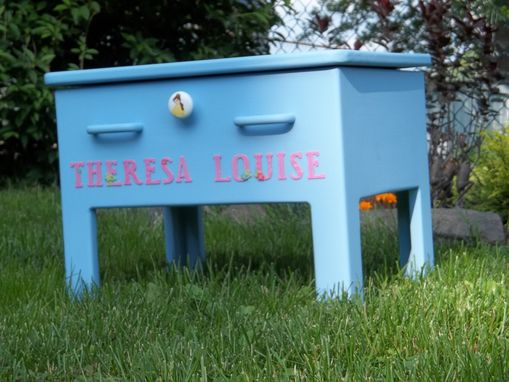 Custom Made Small Storage Bench For A Child