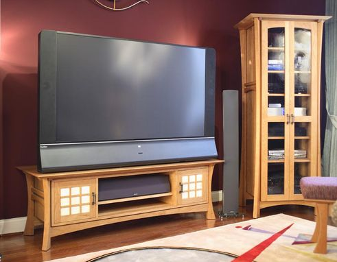 Custom Made Custom Waterfall Tv Console