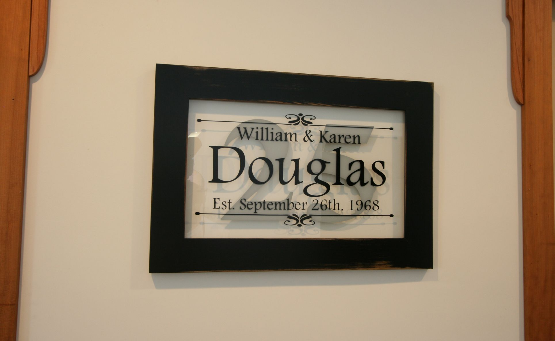 Buy A Custom Made Personalized Anniversary Sign In Handcrafted