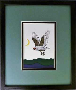 Custom Made Wildlife - Snowy Owl Quilled And Framed Wall Art New Hampshire Wildlife