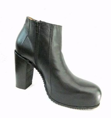 Custom Made Hidden Platform Round Toe Ankle Boot New Any Men Size Avilable Made To Order