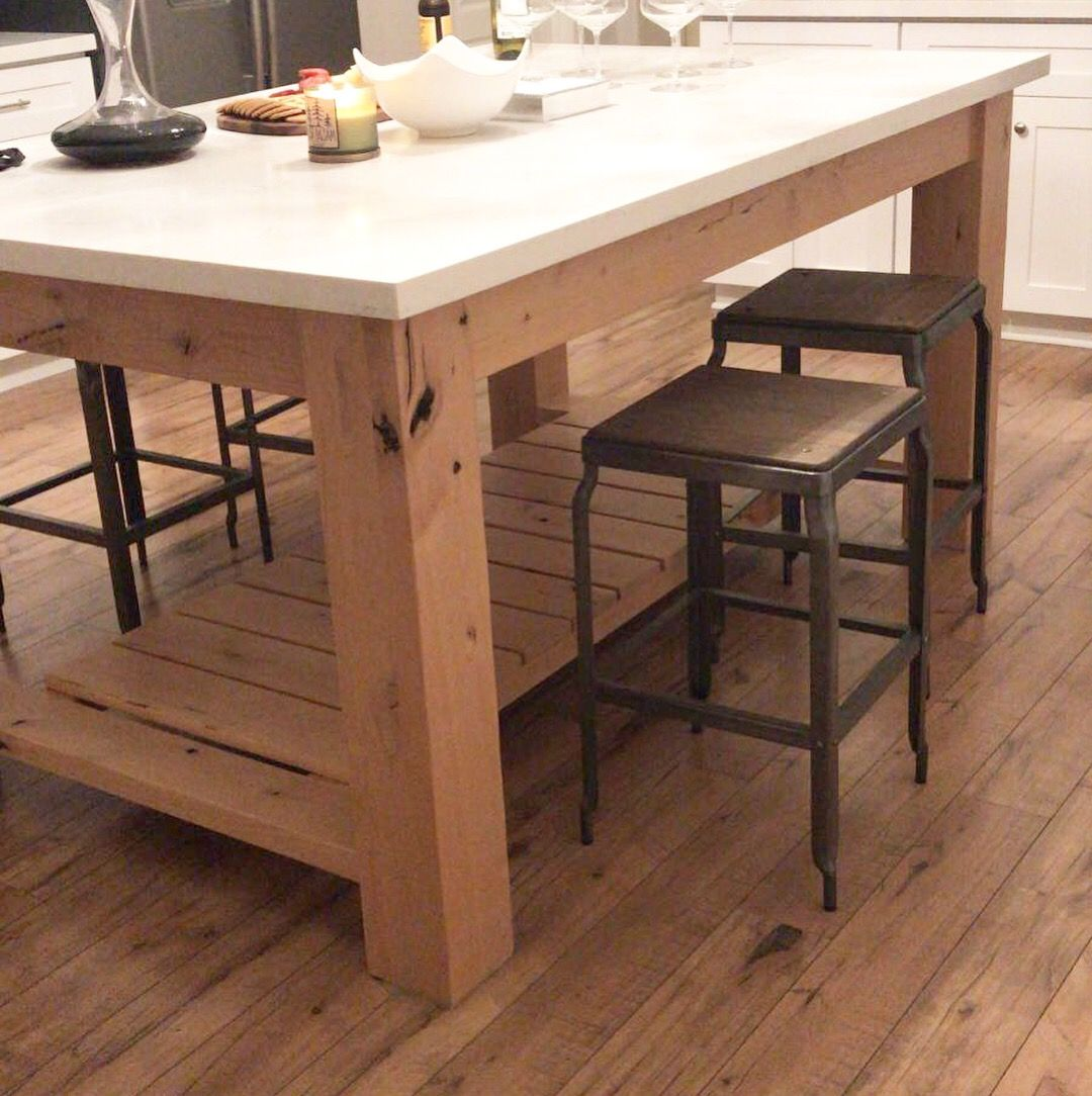 Custom Made Chunky Rustic Kitchen Island Base