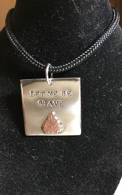 Custom Made Square With Leaf Necklace