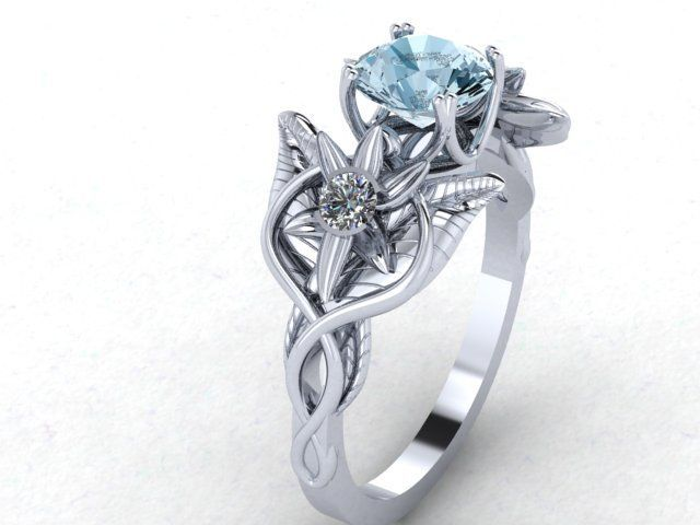 A Handmade Oh Lord This Custom Cut Shire Moon In Elvish Flowers Vines Infinity Ring Is Beautiful Made To Order From Love Pendant Custommade