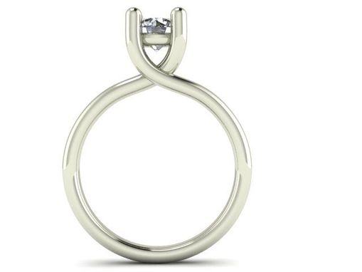 Custom Made Gia Certified .67 Ct. F Color, Si2 Set In 18kt. White Gold Custom Setting