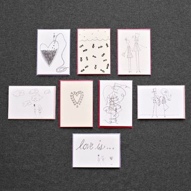 Custom Made Love Letters Greeting Card Set