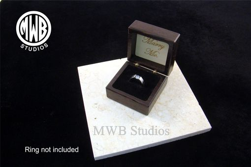 Custom Made Inlaid Acanthus Leaf Engagement Ring Box With Free Engraving And Shipping.  Rb5