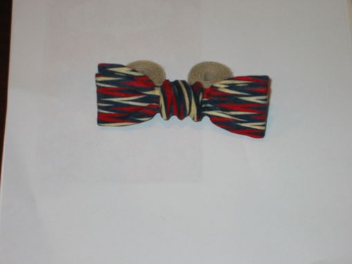 Custom Made Bow Tie - The Patriot In Colorply Wood