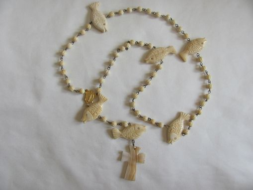 Custom Made Apostles: Fishers Of Men Bone Fish Rosary