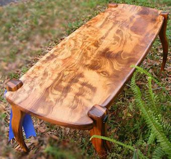 Custom Made Hardwood Art Furniture Coffee Table