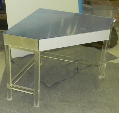 Custom Made Acrylic Corner Desk - Hand Crafted, Made To Order, Vast Variety Of Size And Color Options