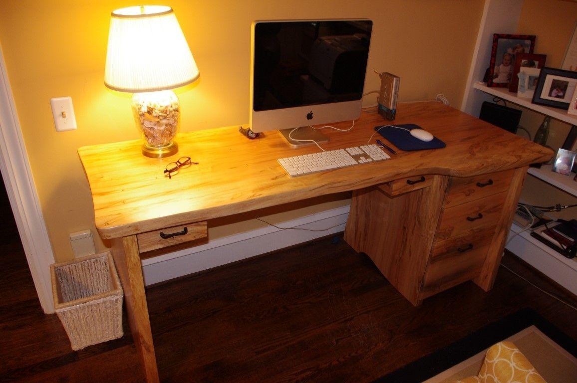 Handmade Solid Wood Slab Desk By Jkb Design Custommade Com