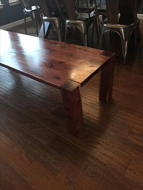 Custom Made Texas Cedar Coffee Table