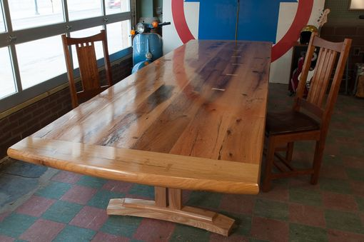 Custom Made Oak And Elm Barnwood Table