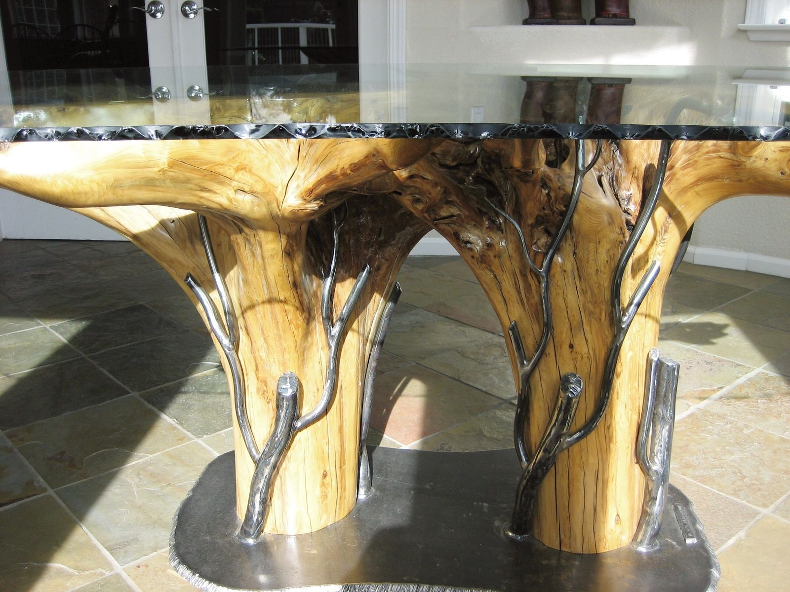 Hand Crafted Duarte Stump Table by North Shore Iron Works ...