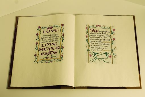 Custom Made Love Never Ends Handmade Book