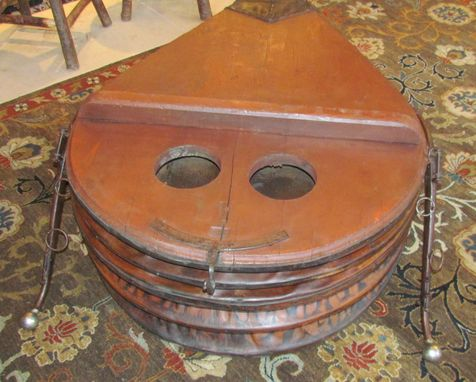 Custom Made For Sale 1880'S Blacksmith Bellow Coffee Table