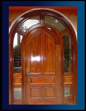 Custom Made Mahogany Framed Custom Door