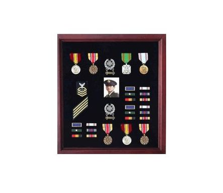 Custom Made Extra Large Medal Display Case Cherry Finish