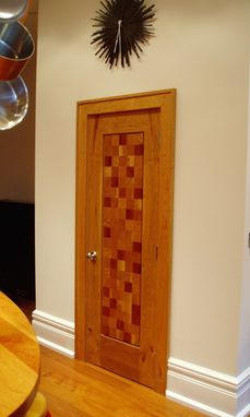 Custom Made Interior Door In Solid Parqueted Cherry