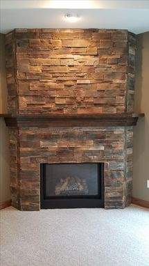 Custom Made Custom Soft Maple- Wrap Around Mantel