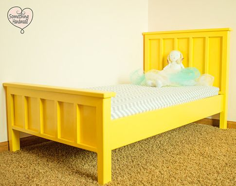Custom Made Custom Handmade Painted Toddler Bed You Choose Color