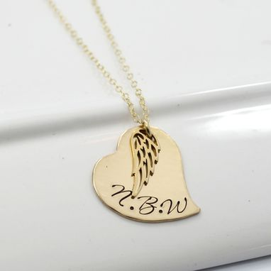 Custom Made Memory Necklace In Gold | Personalized Rememberance Necklace