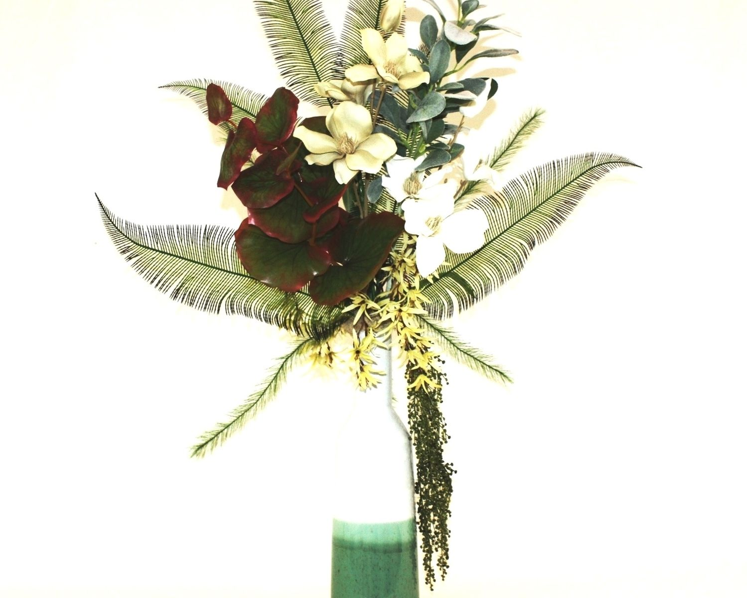 Handmade tropical decor large silk flower arrangement
