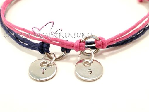 Custom Made His Hers Couples Bracelets Stamped Charms