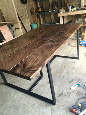 Custom Made Rustic Modern Dining Table