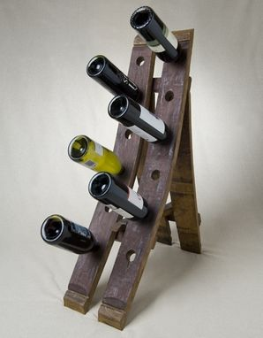 Custom Made Free Standing Barrel Wine Rack