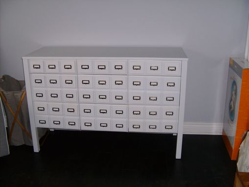 Custom Made Card Catalog Style 9-Drawer Dresser