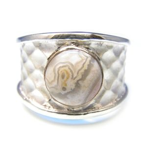 Custom Made Custom™ Collection Wide Agate Ring