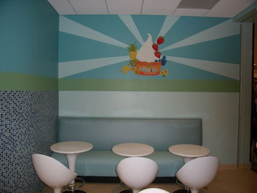 Custom Made Store Logo And Wall Mural