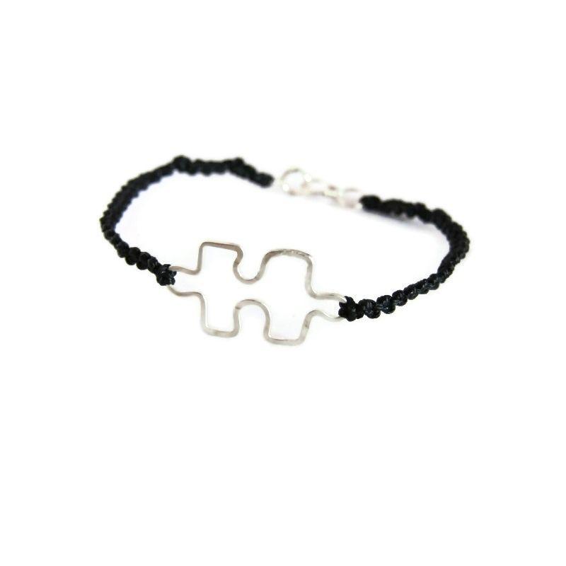 Custom Made Autism Awareness Sterling Silver Bracelet